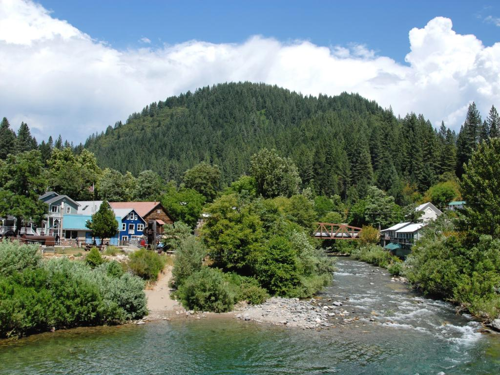 Downieville town on the Yuba River in California's Gold Country