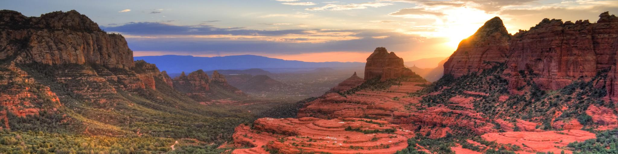 The scenic route through the Red Rocks of Sedona is best for a road trip from Phoenix to Las Vegas.