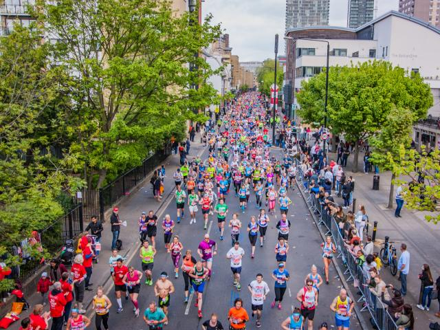 Runners compete in the 2017 London Marathon