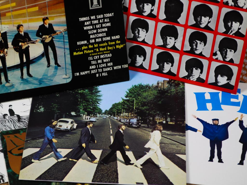 Beatles songs is one possible option for the Categories road trip game.