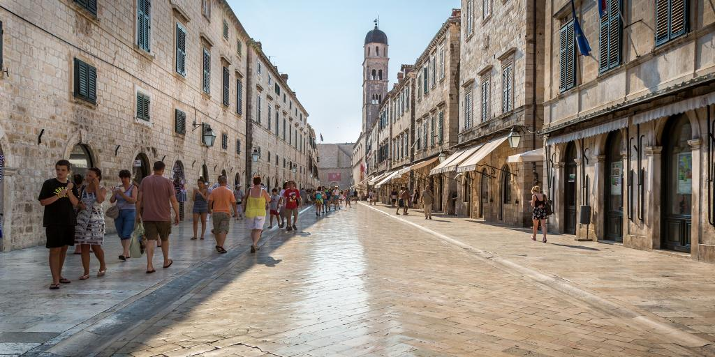 A marble street in Dubrovnik, Croatia