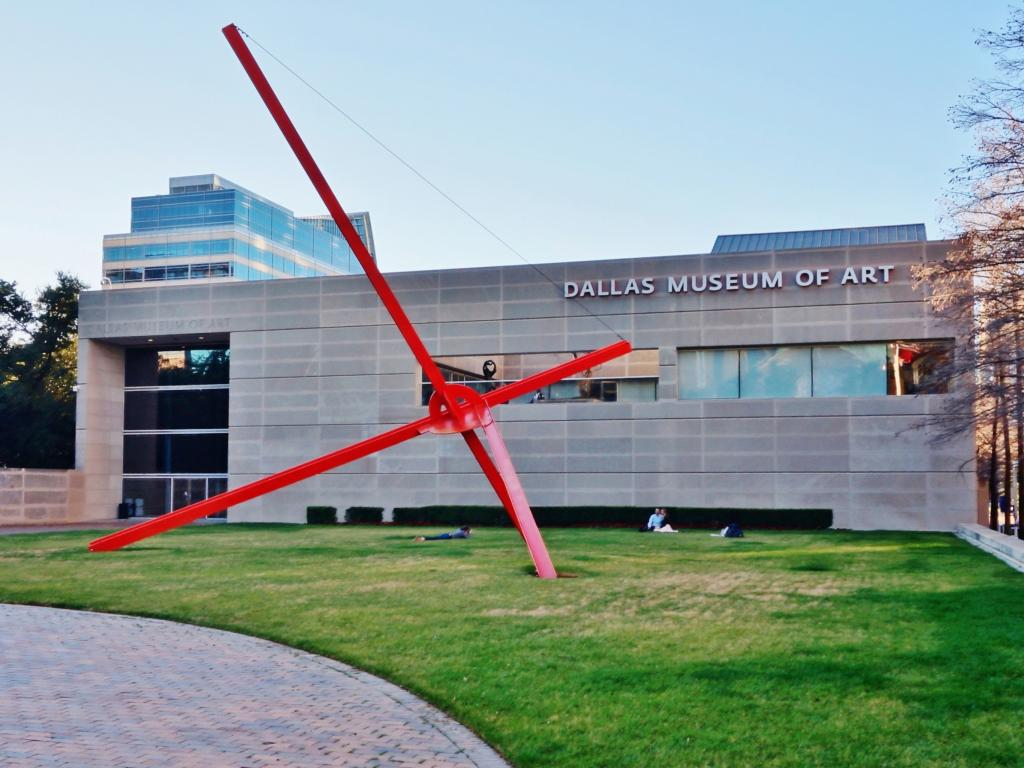 Dallas Museum of Art (DMA) in the Pearl Arts District in Dallas, Texas