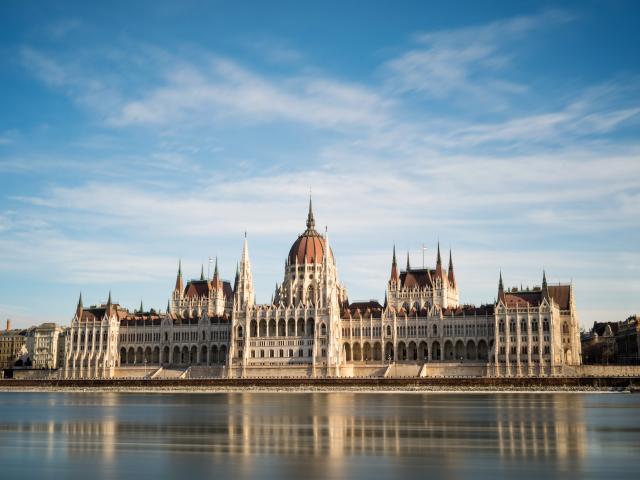 Hungarian Parliament Building , Budapest, Hungary
