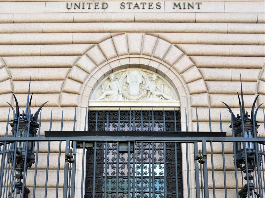 Entrance to the United States Mint in Denver, Colorado