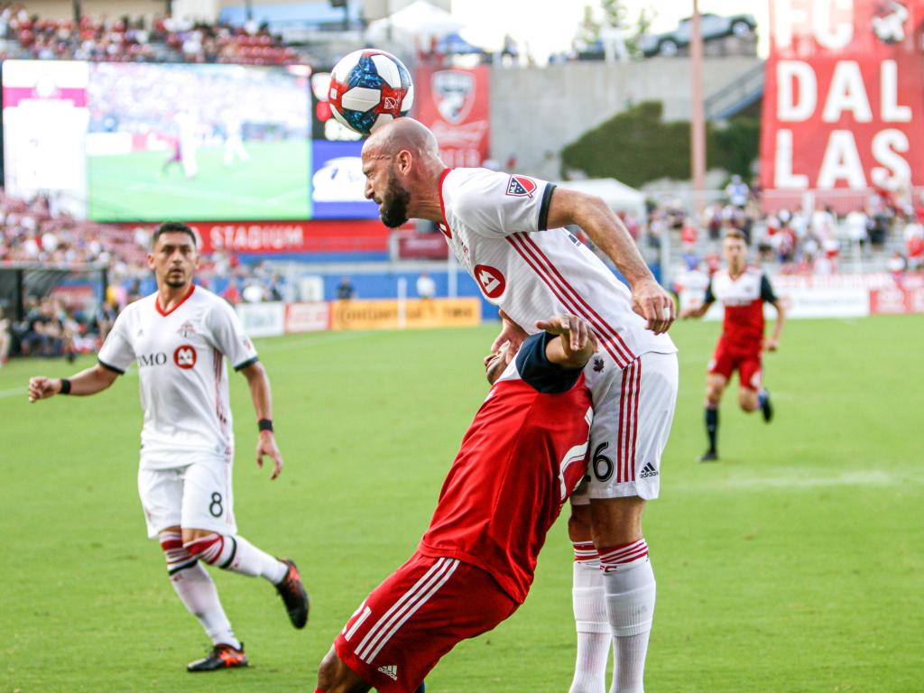 FC Dallas playing against Toronto FC at the Toyota Stadium, Frisco, TX