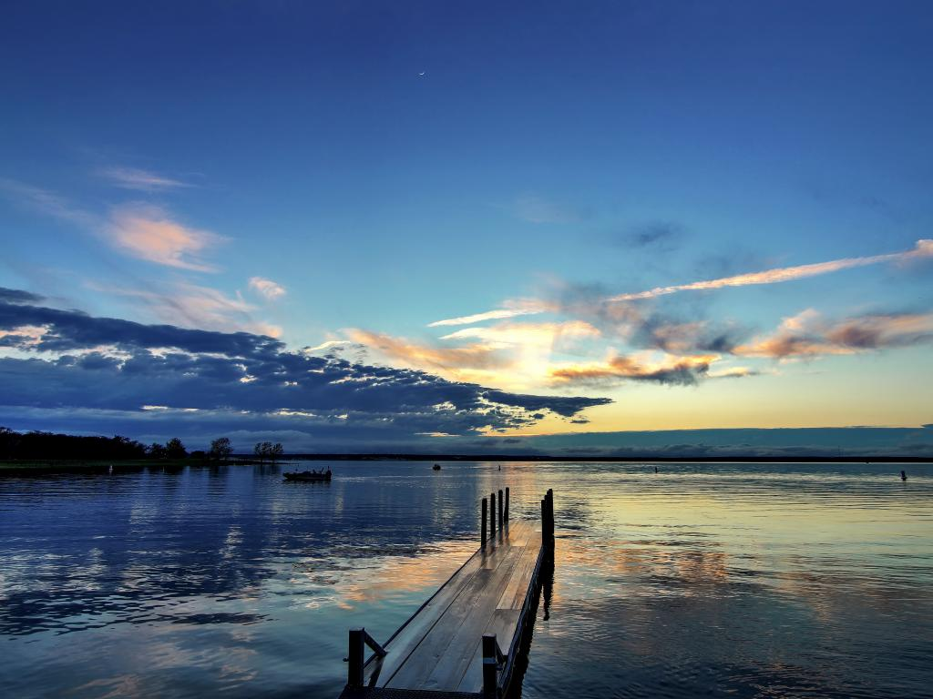 The stunning sunset at Lake Whitney, Texas