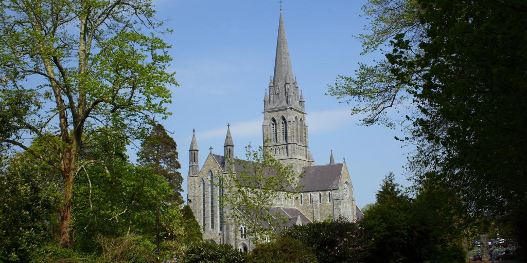 St Mary's Cathedral through the trees, Killarney