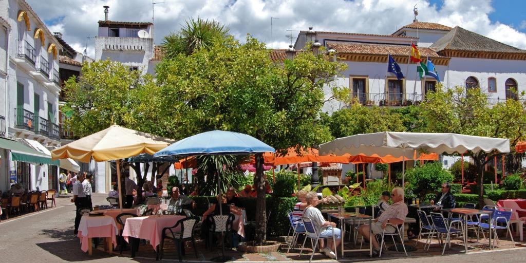 Plaza de los Naranjas in Marbella - a perfect stop on your road trip