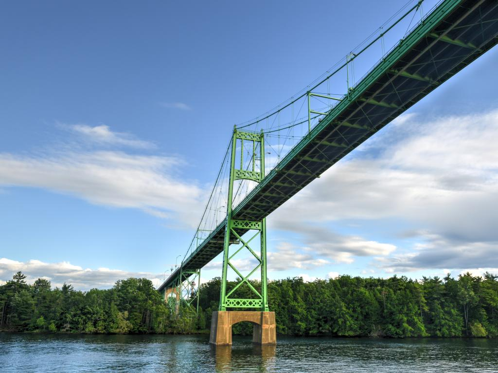 Thousand Islands Bridge over the Saint Lawrence River connecting northern New York with Ontario, Canada.