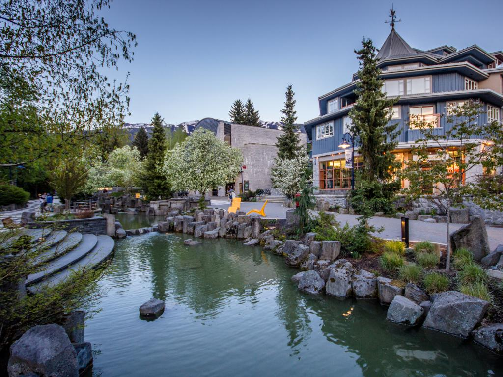 Whistler village in British Columbia