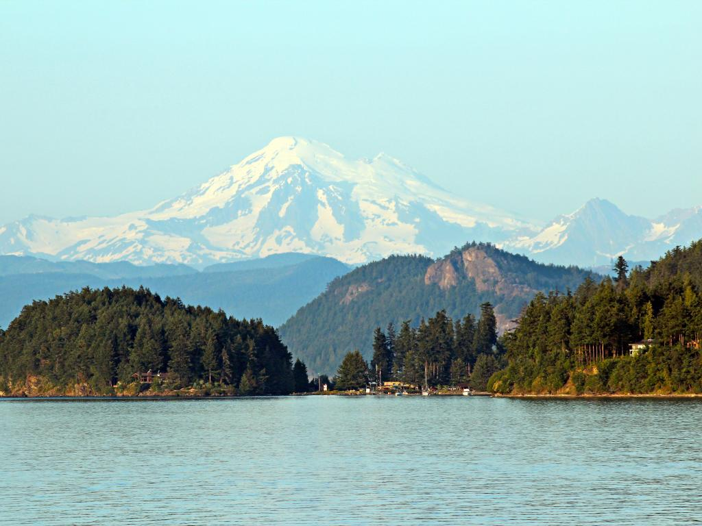 Mount Baker from the San Juan Islands, British Columbia, Canada