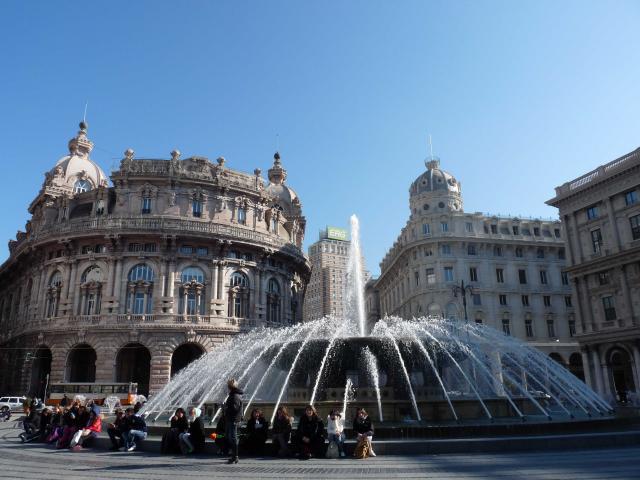 Piazza de Ferrari, Genoa, Italy