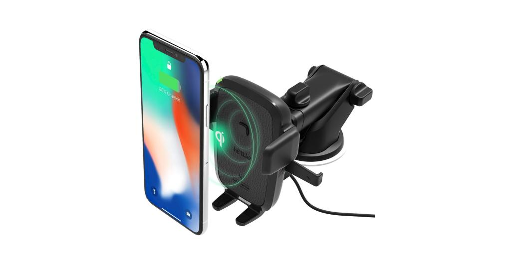 Wireless charging is available on this phone mount