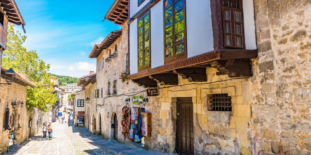 Medieval town of Santillana del Mar in northern Spain