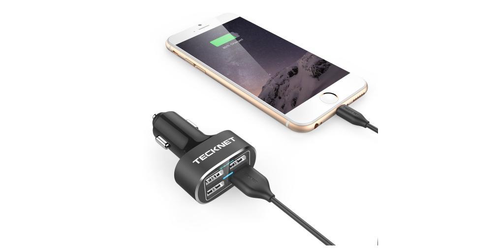 TeckNet 4-way car charger