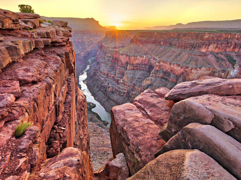 Sunrise at Toroweap in the Grand Canyon National Park, Arizona.