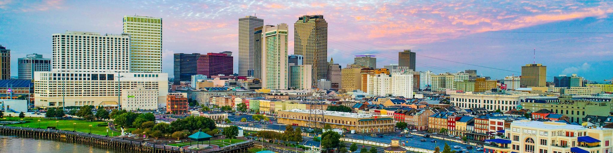 Skyline of New Orleans. Louisiana