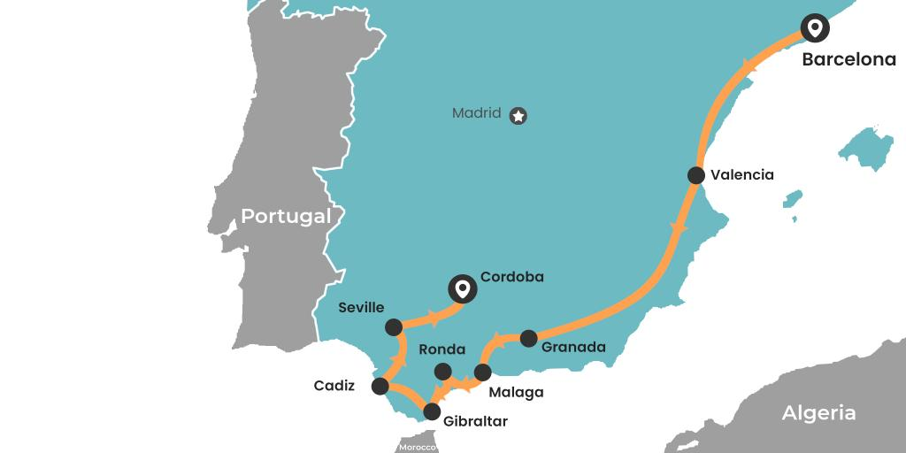South Coast Of Spain Map.10 Epic Spain Road Trips Maps Itineraries And Tips Lazytrips
