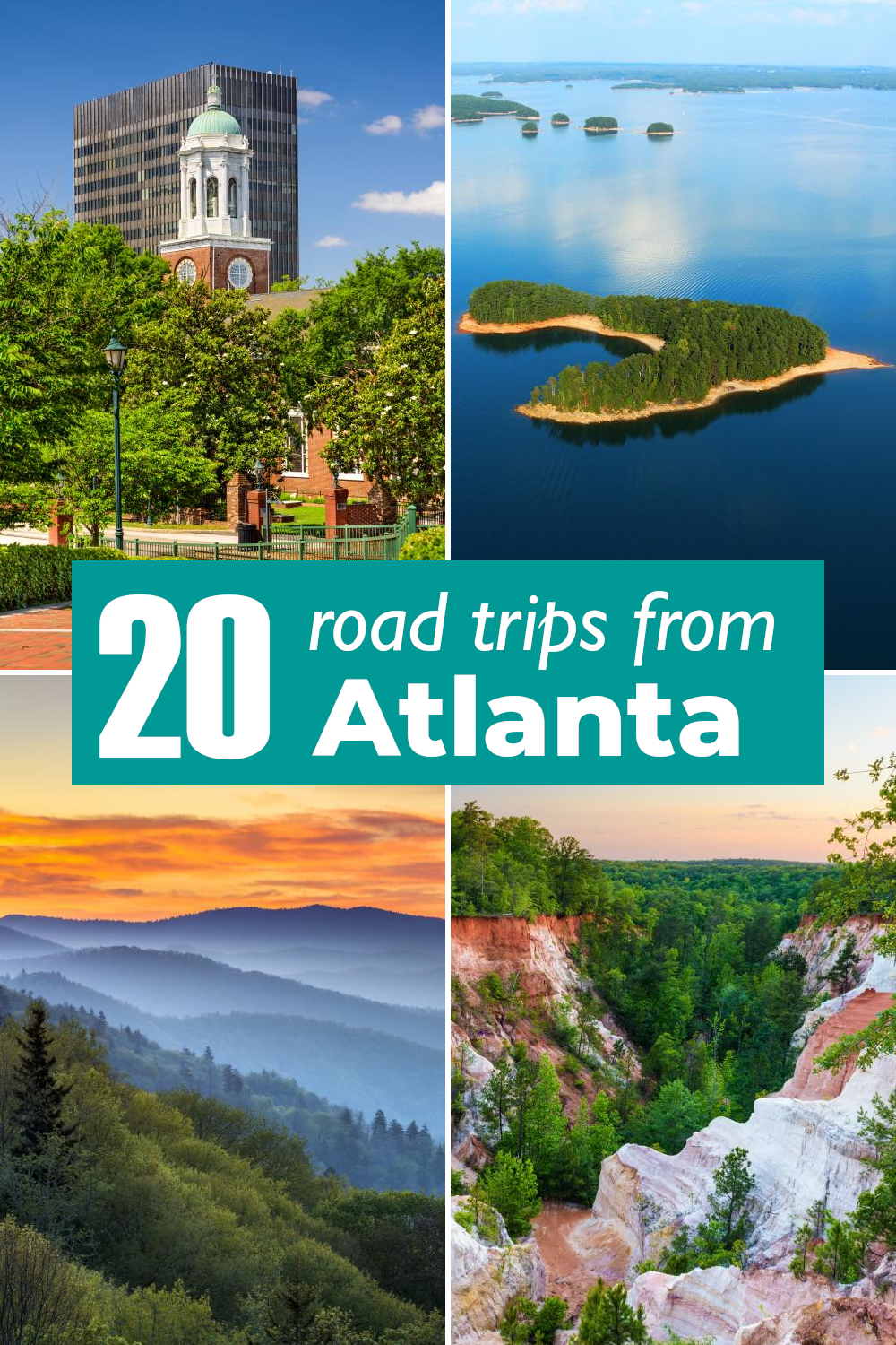 20 Best road trips from Atlanta - from short day drives to historic cities in Georgia to week-long adventures across the Deep South