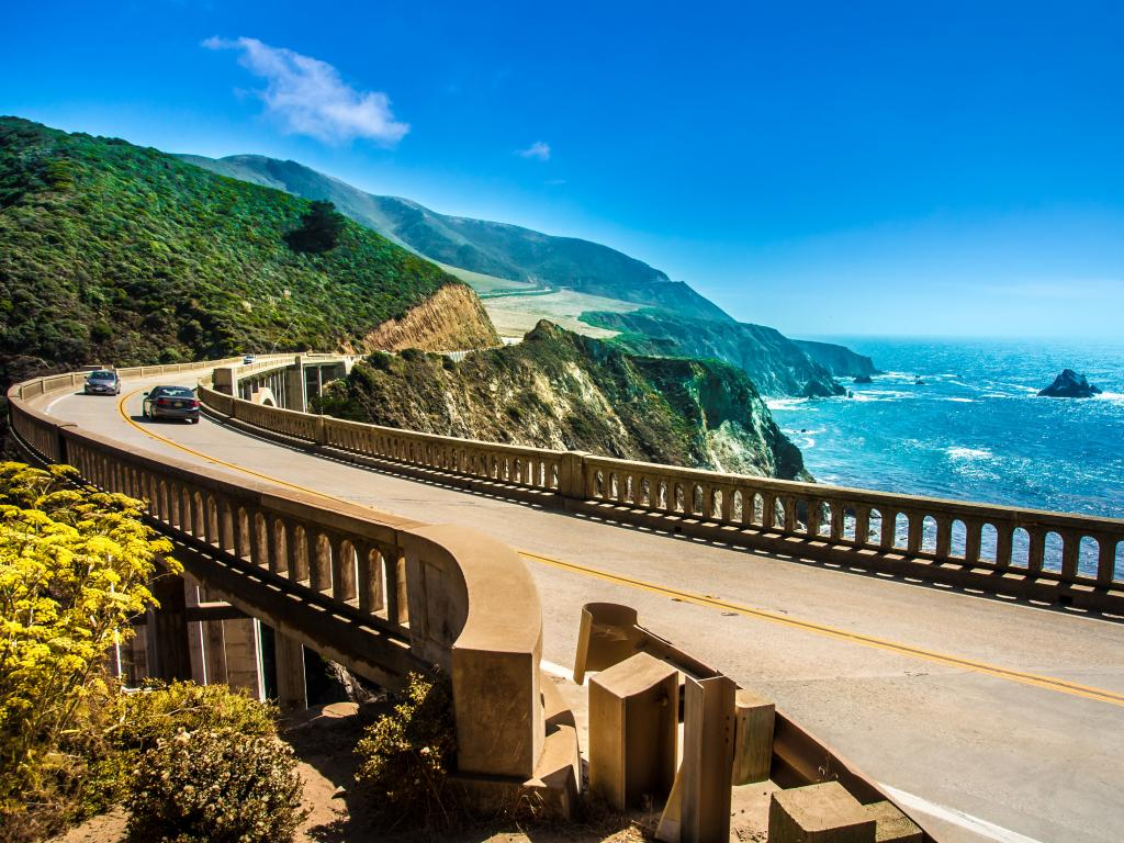 Bixby Creek Bridge on California's Highway 1 in the Big Sur area