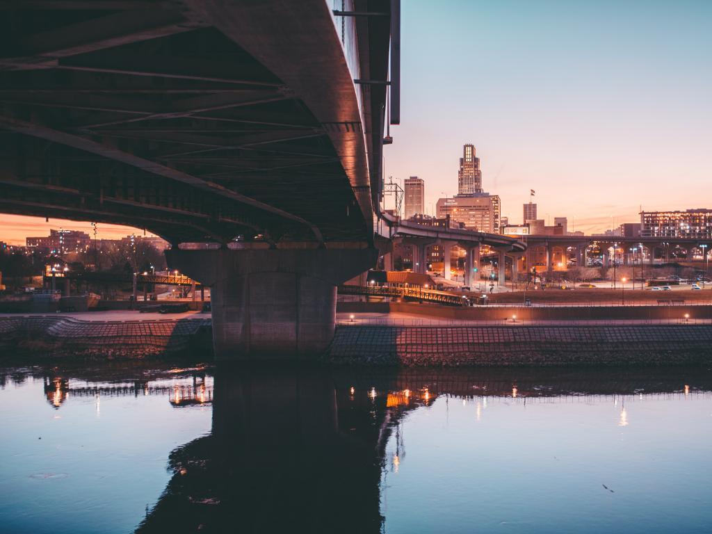 Sunset over the Missouri River, Omaha