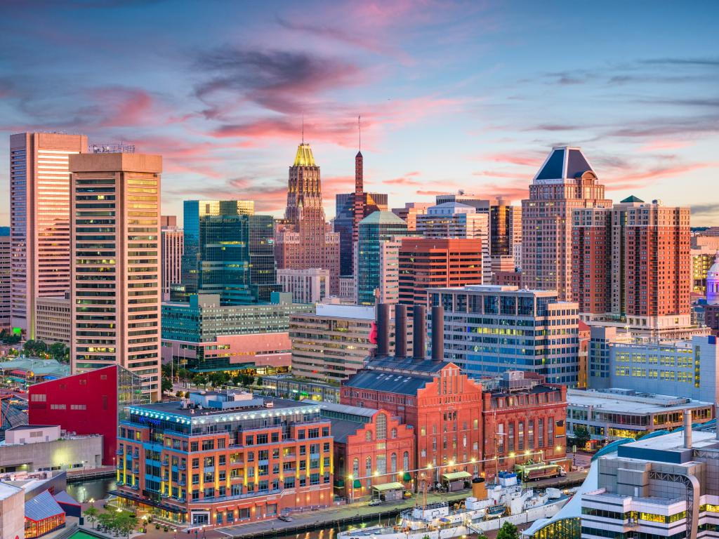 Downtown Baltimore - an underrated city that is amazing for a day trip from New York City