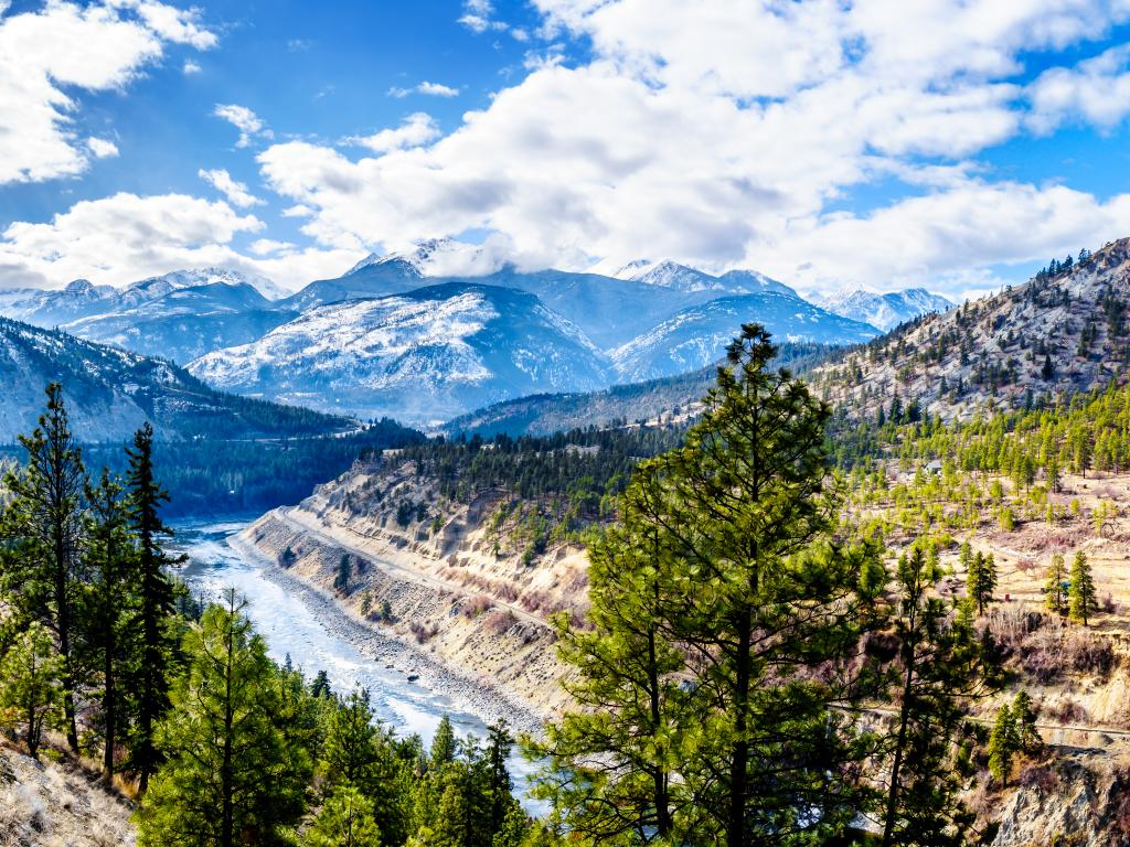 Fraser Canyon Route with Thompson River, British Colombia, Canada