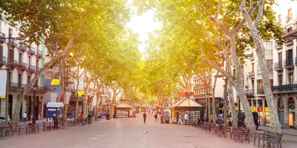 Spain road trip - La Rambla street in Barcelona