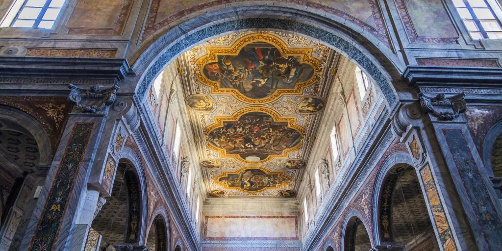 Paintings on the ceiling in Ostuni Cathedral, Puglia
