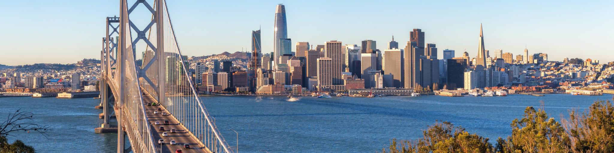 View of San Francisco from across the Bay Bridge