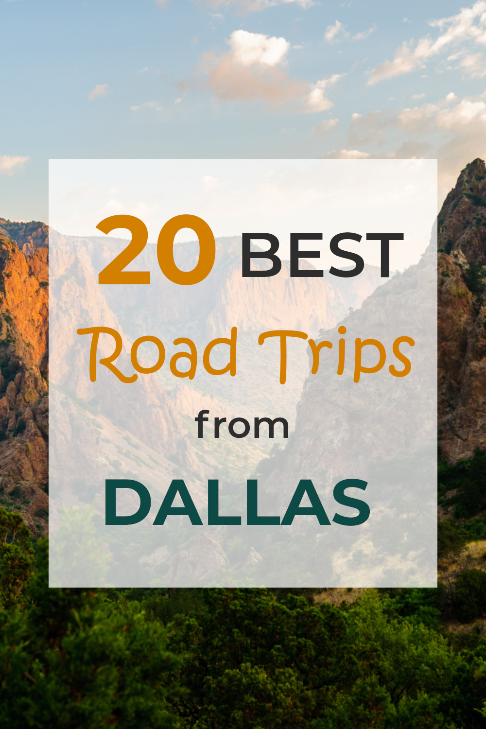 A complete guide to the best road trips from Dallas - from short day drives to week-long road trips to other states.