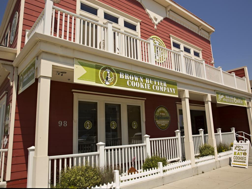 The Brown Butter Cookie Company shop in Cayucos, California