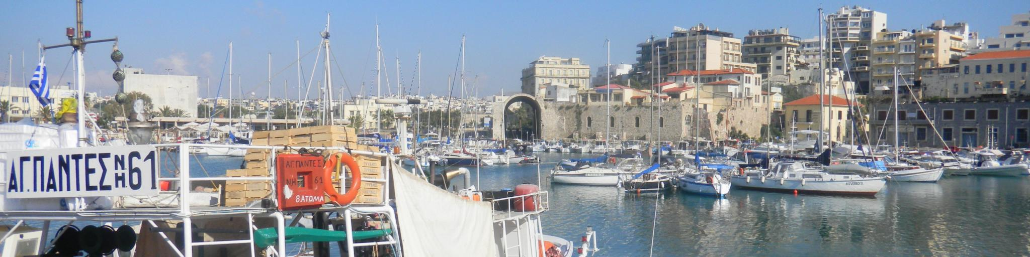 Harbour in Heraklion, Crete, Greece