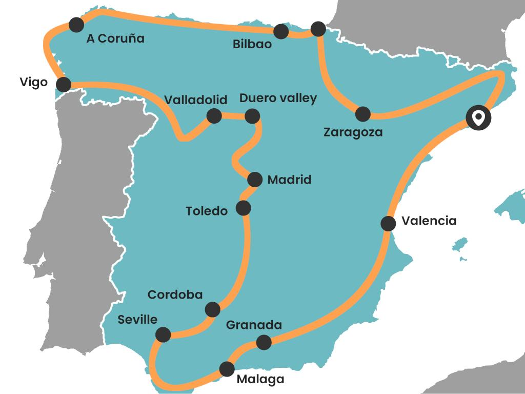 Bilbao On Map Of Spain.10 Epic Spain Road Trips Maps Itineraries And Tips Lazytrips