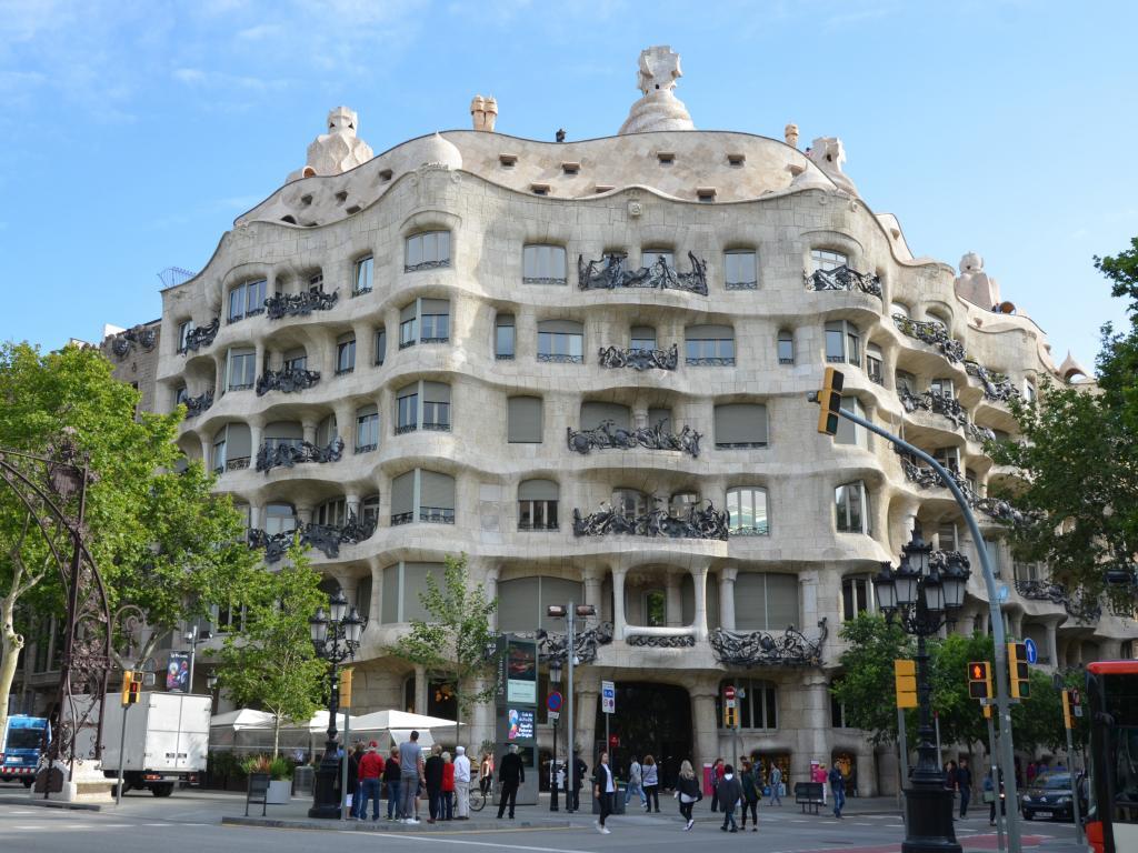 Casa Mila, also known as La Pedrera in Passeig de Gracia in Barcelona
