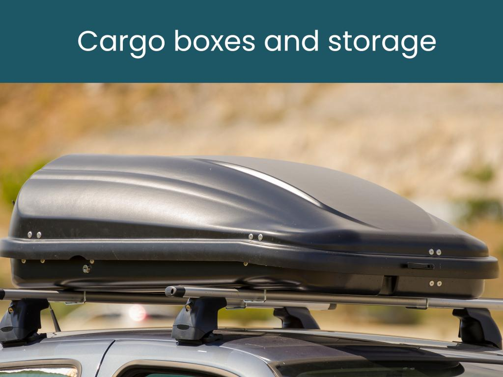 Cargo boxes and storage for long road trips with luggage