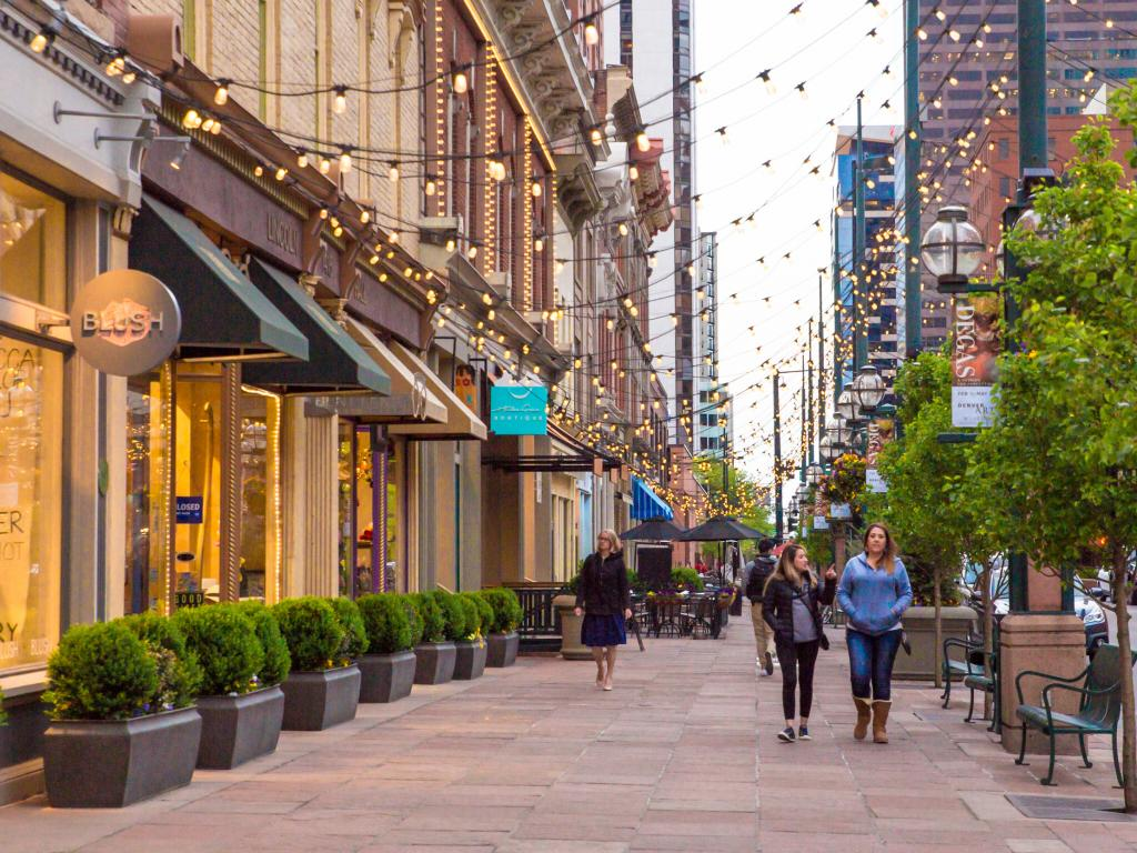 Restaurants and shops in Larimer Square in downtown Denver