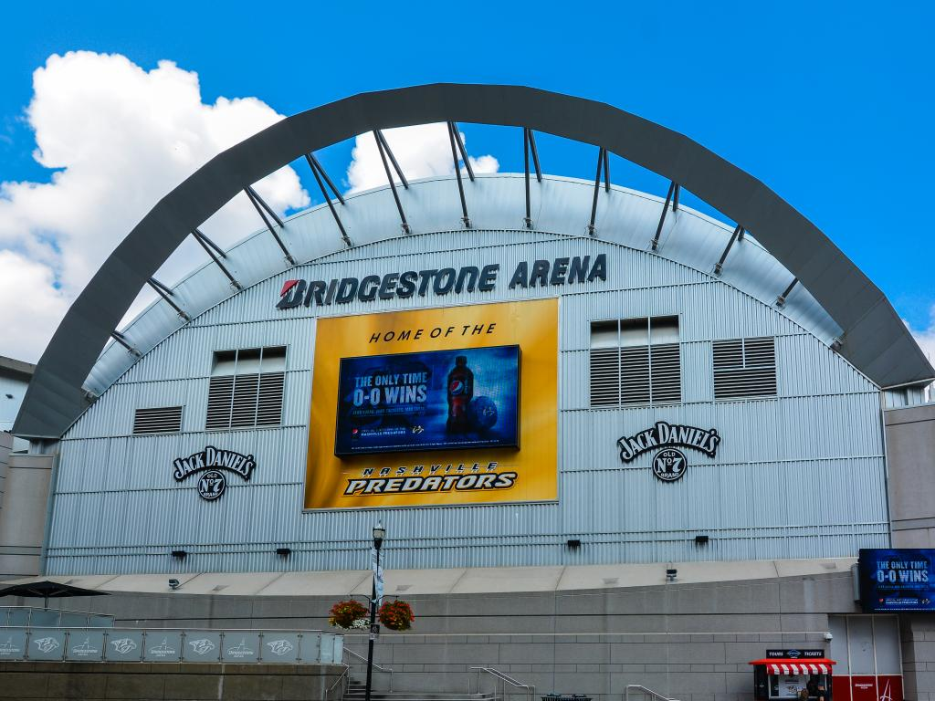 Nashville Predators' home Bridgestone Arena - NHL in Nashville