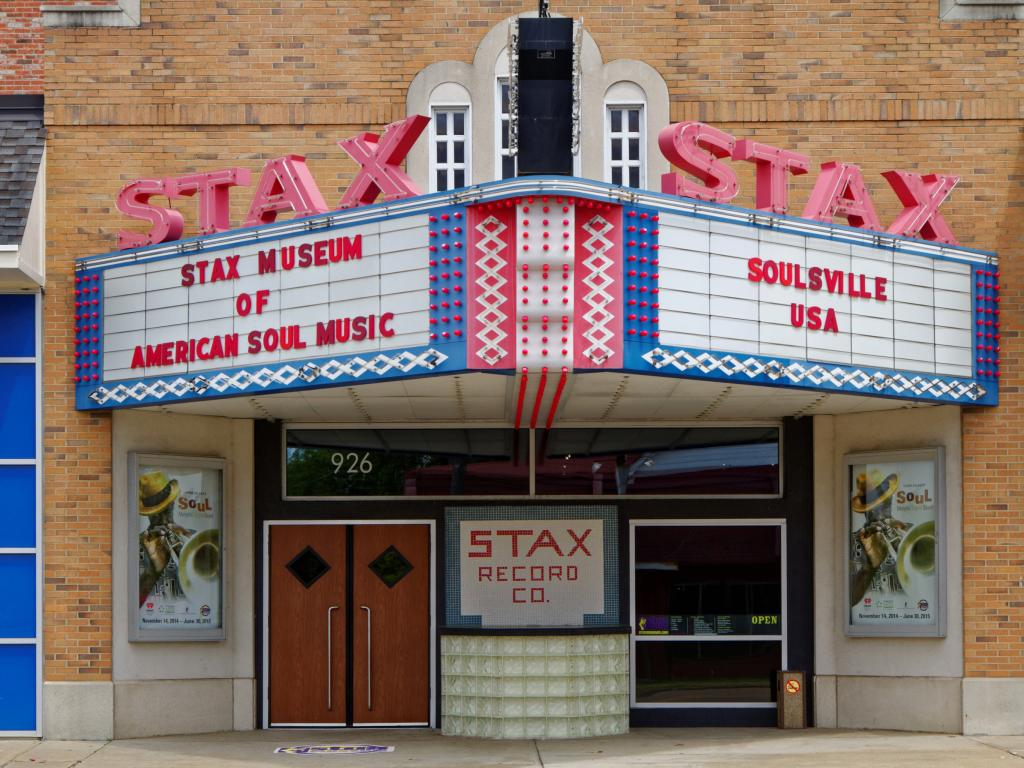 Entrance to the Stax Museum of American Soul Music in Memphis