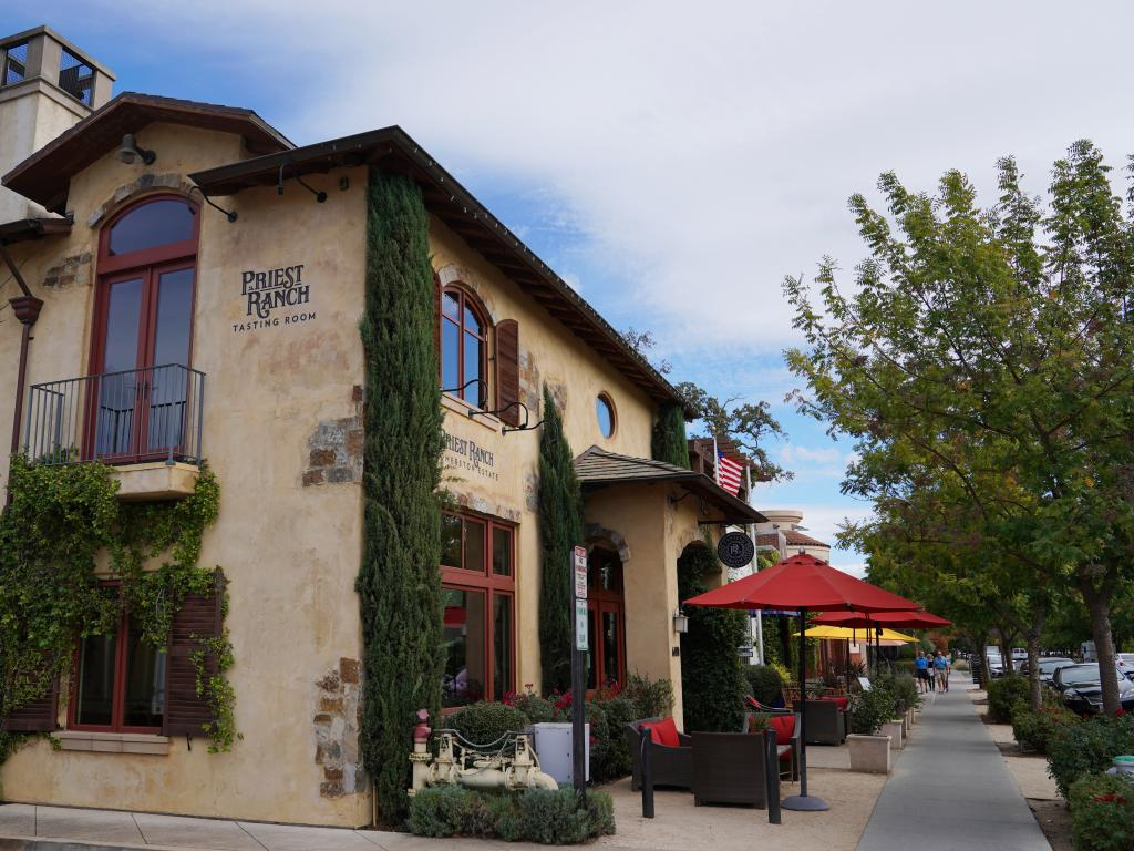 Priest Ranch Winery tasting room in Yountville, Napa Valley, California