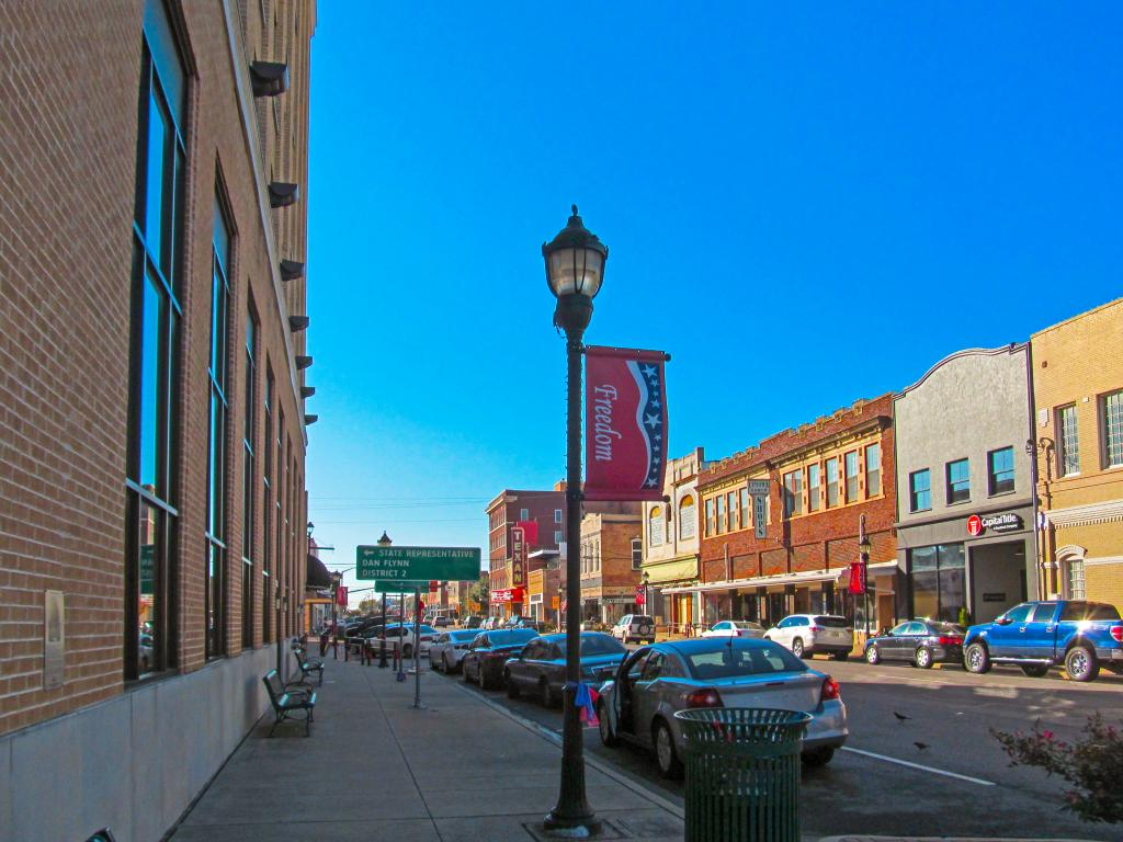 Main Street of Greenville, Texas - a short day trip from Dallas