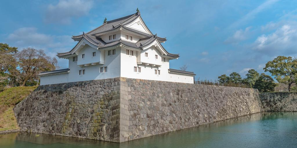 The east gate and moat of Sunpu Castle, Shizuoka