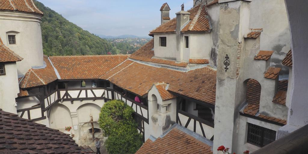 Inner courtyard at Bran Castle, Romania