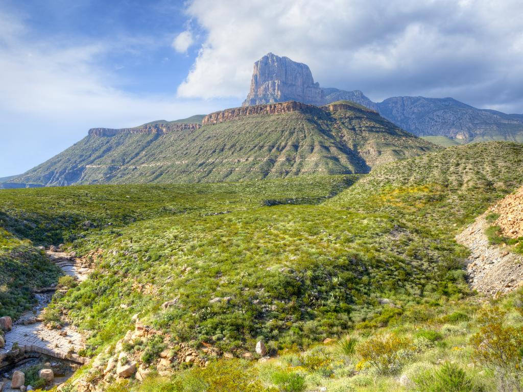 El Capitan peak in the Guadalupe Mountains National Park, Texas