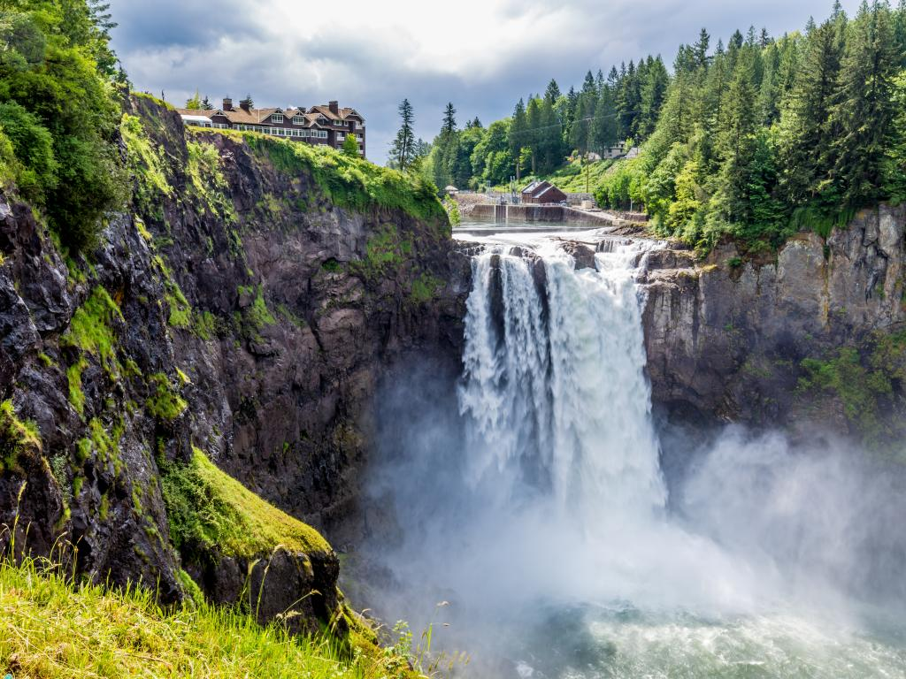 Snoqualmie Waterfall in the Great Pacific Northwest