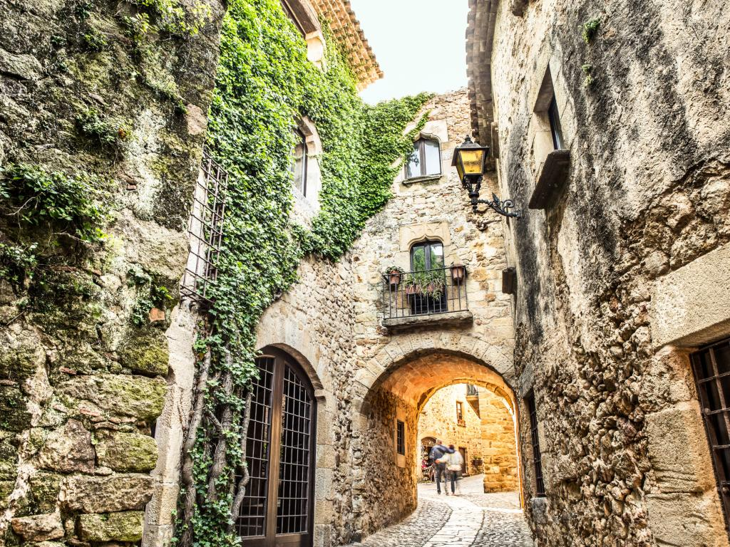 Picturesque medieval village of Pals along the Costa Brava