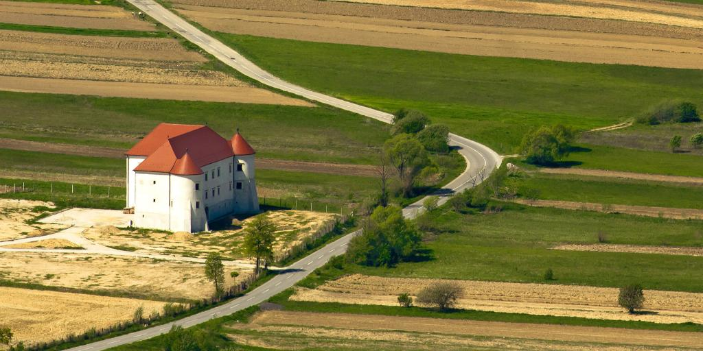 Bela Castle sits along a country road in Croatia