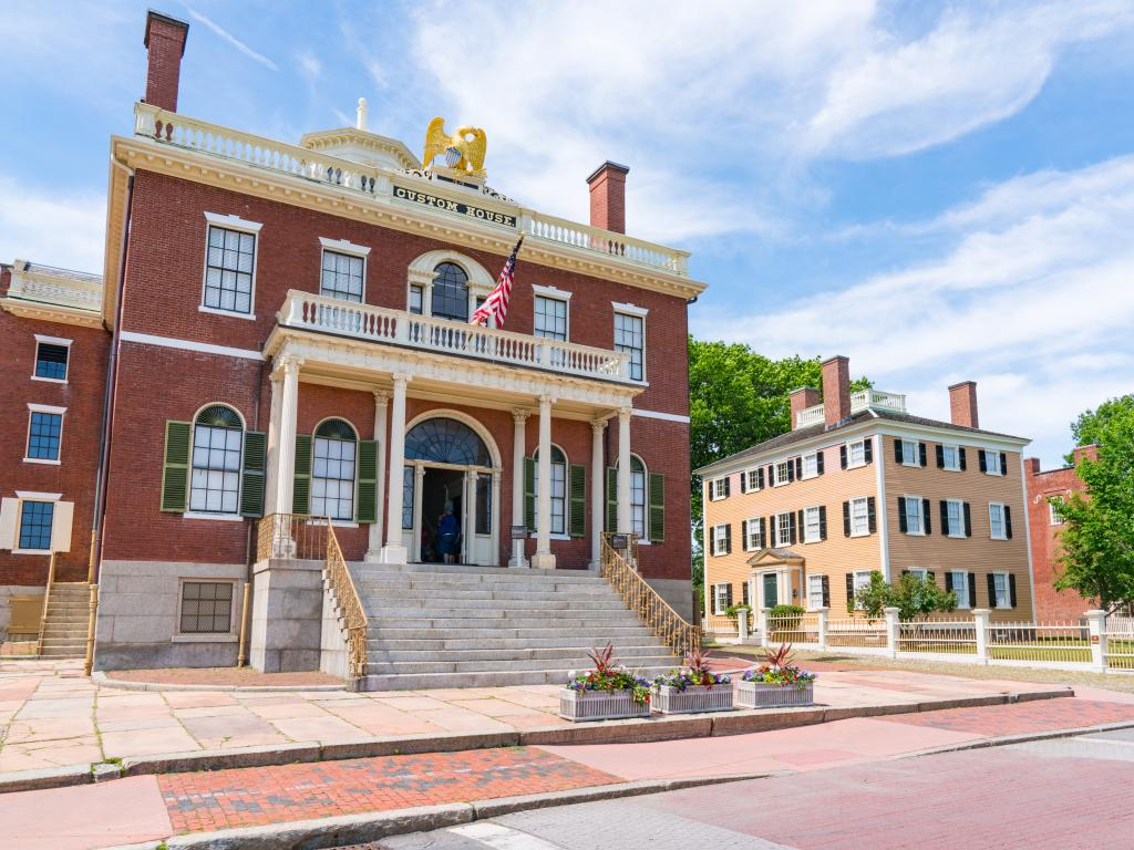 Historic Custom House in the Salem Maritime National Historic Site in Salem, Massachusetts.