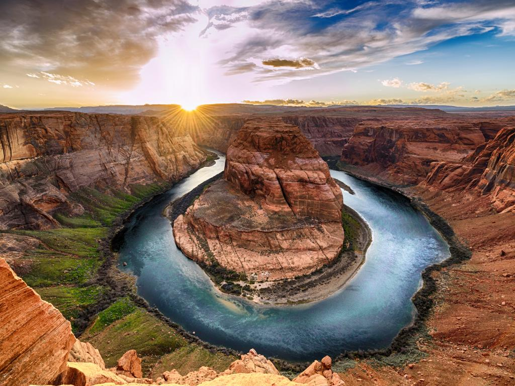 The unique Horseshoe Bend in the Grand Canyon National Park, Arizona