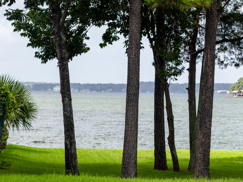 Lake Conroe, as seen on the road trip from Dallas to Houston